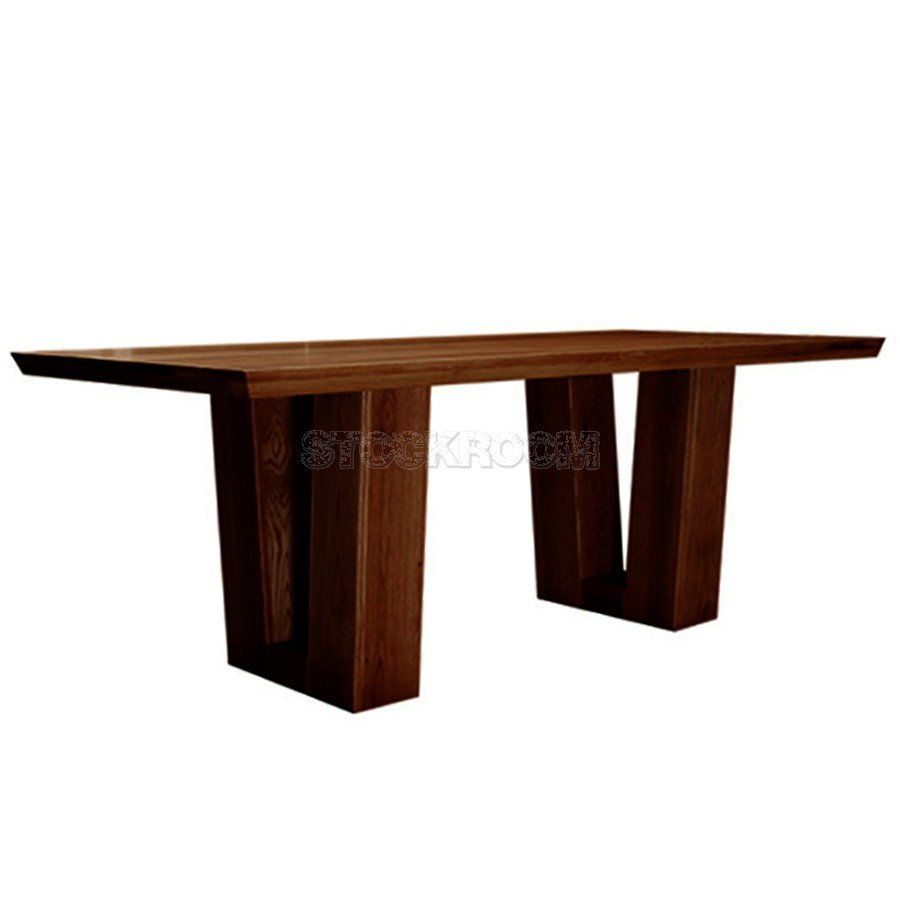 Solid Wood Dining Table By H F: Carroll Solid Oak Wood Dining Table