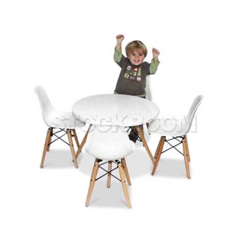 Miraculous Eames Style Kids Table Set Bralicious Painted Fabric Chair Ideas Braliciousco