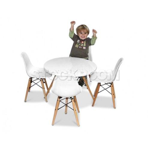 Groovy Eames Style Kids Table Set Cjindustries Chair Design For Home Cjindustriesco