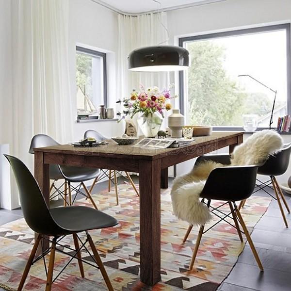Jacob Slim Solid Oak Wood Dining Table Set 180cm