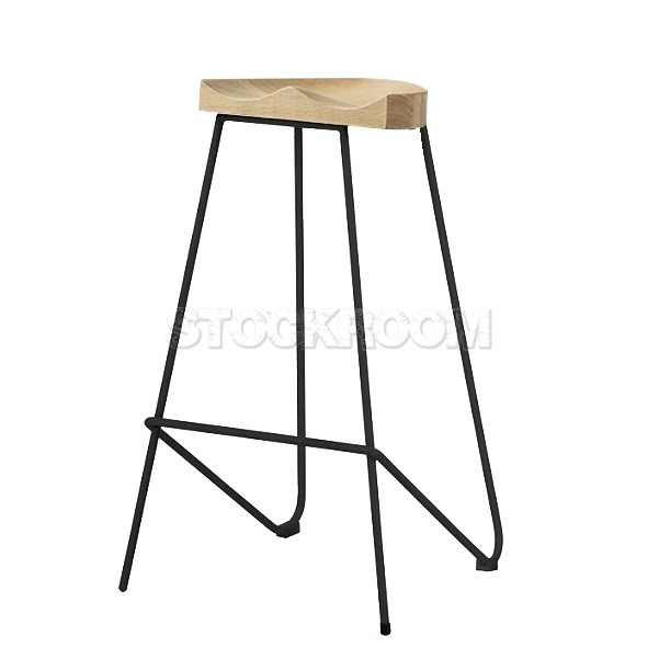 Tractor Style Counter Bar Stool With Metal Base